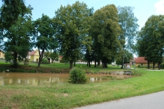 Šipoun - náves s rybníkem